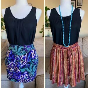 Outfit Bundle= 1 shirt+ 2 skirts+ necklace (SMALL)